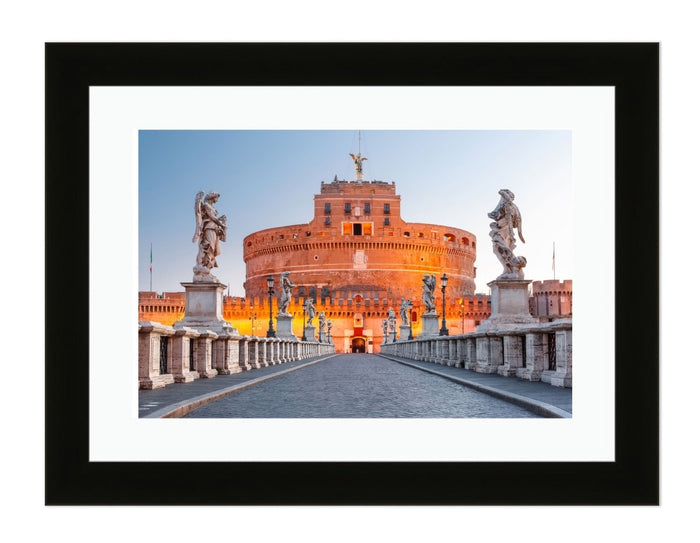 Saint Angel Castle And Bridge, Rome, Italy Framed Mounted Print Picture - FP60 - Art Fever - Art Fever