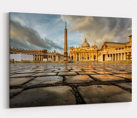 Saint Peter Square Vatican City, Rome Printed Canvas Print Picture - SPC166 - Art Fever - Art Fever