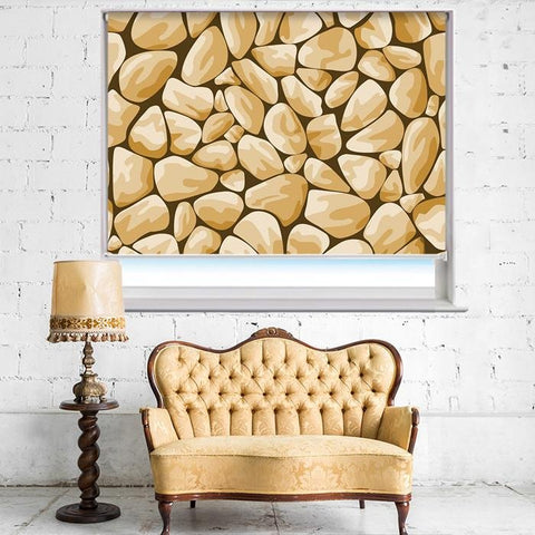 Sand Stone Effect Printed Photo Picture Roller Blind - RB394 - Art Fever - Art Fever