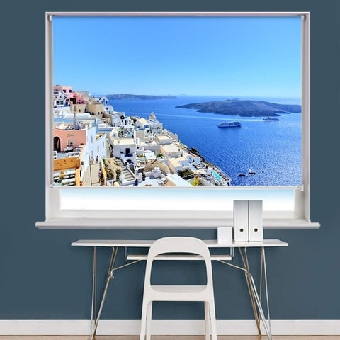 Santorini Beach, Santorini, Greece Printed Photo Picture Roller Blind - RB730 - Art Fever - Art Fever
