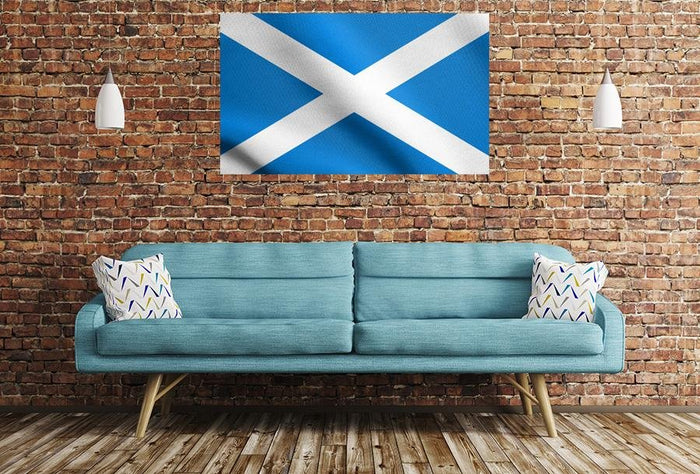 Scottish Flag Image Printed Onto A Single Panel Canvas - SPC48 - Art Fever - Art Fever
