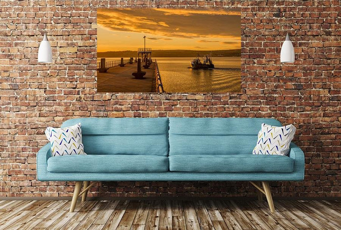 Seascape Harbour Image Printed Onto A Single Panel Canvas - SPC62 - Art Fever - Art Fever