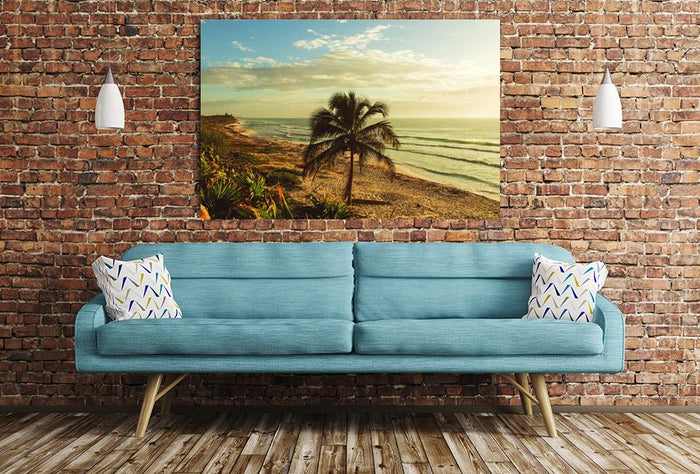 Serenity tropical beach Scene Image Printed Onto A Single Panel Canvas - SPC88 - Art Fever - Art Fever