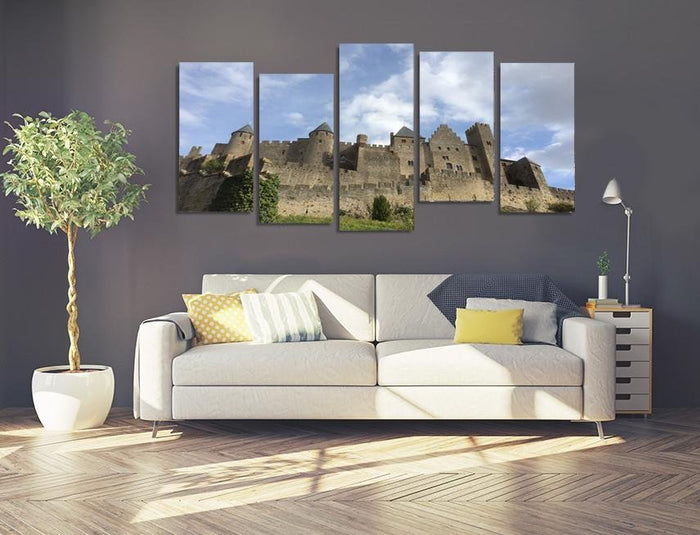 Sh12 - Medieval Chateau of Carcassonne Multi Panel Canvas Print - Art Fever - Art Fever