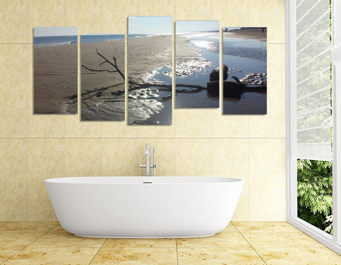 SH13 - Narbonne la Plage, France Multi Panel Canvas Print - Art Fever - Art Fever