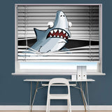 Shark Peeking Animal Image Printed Roller Blind - RB870 - Art Fever - Art Fever