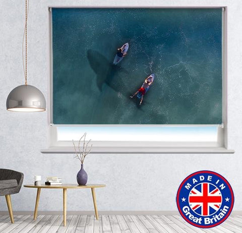 Shark Under the Surfers Printed Picture Photo Roller Blind - RB630 - Art Fever - Art Fever