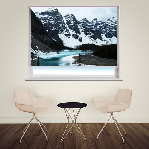 Snow in Peyto Lake Printed Picture Photo Roller Blind - RB222 - Art Fever - Art Fever