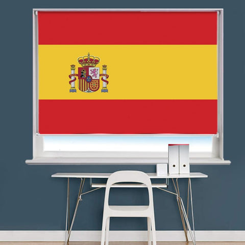 Spanish Espania Flag Printed Picture Roller Blind - RB753 - Art Fever - Art Fever