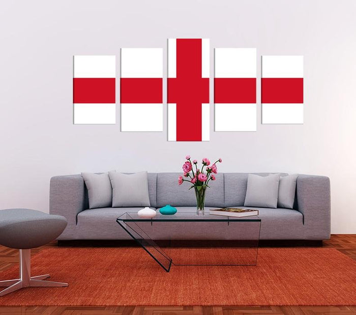 St George's Cross Flag Image Multi Panel Canvas Print wall Art - MPC168 - Art Fever - Art Fever