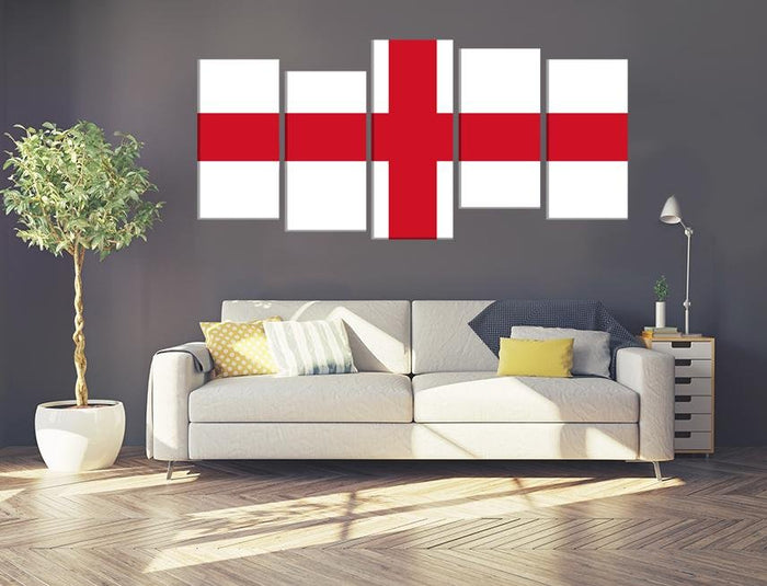 St George's Cross Flag Image Multi Panel Canvas Print wall Art - MPC169 - Art Fever - Art Fever