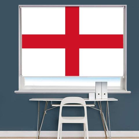 St George's Cross Flag Image Printed Roller Blind - RB863 - Art Fever - Art Fever
