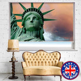 Statue of Liberty NYC Thunderstorm Photo Printed Picture Roller Blind - RB580 - Art Fever - Art Fever