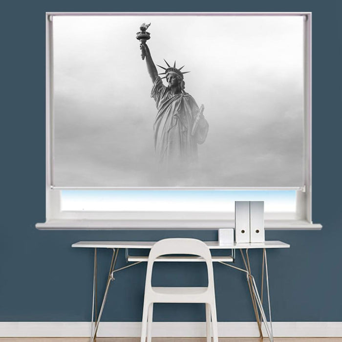 Statue of Liberty through the Fog Printed Picture Photo Roller Blind - RB703 - Art Fever - Art Fever