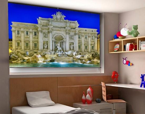 Statues In Trevi Fountain Rome Printed Picture Photo Roller Blind - RB289 - Art Fever - Art Fever