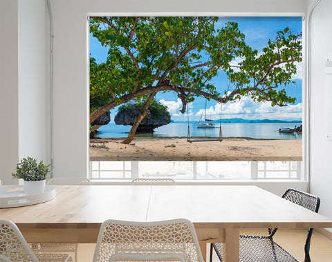 Summer Beach Scene Printed Picture Photo Roller Blind - RB567 - Art Fever - Art Fever