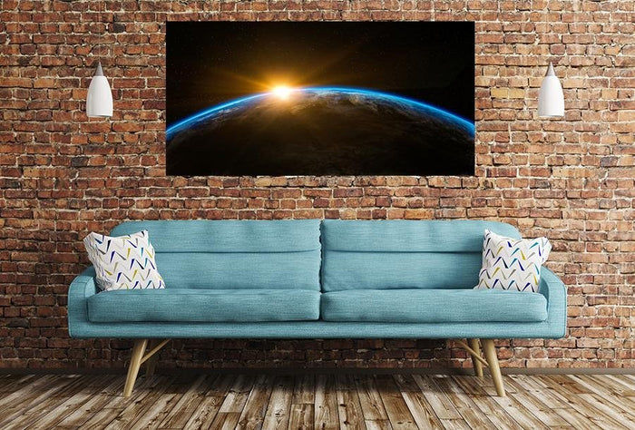 Sunrise Space Scene Image Printed Onto A Single Panel Canvas - SPC95 - Art Fever - Art Fever