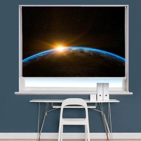 Sunrise Space Scene Image Printed Roller Blind - RB835 - Art Fever - Art Fever