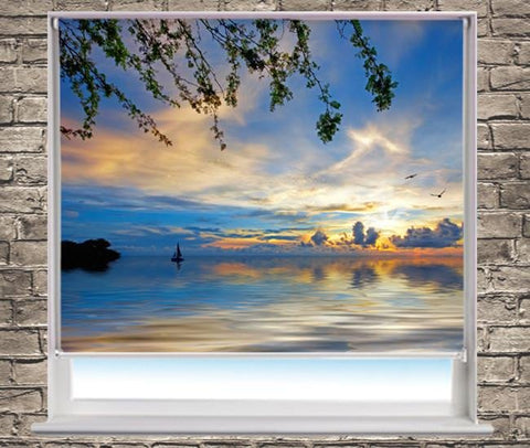 Sunset At Jeremi Beach Printed Picture Photo Roller Blind - RB183 - Art Fever - Art Fever