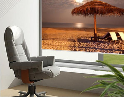 Sunset beach tropical Printed Picture Photo Roller Blind - RB70 - Art Fever - Art Fever