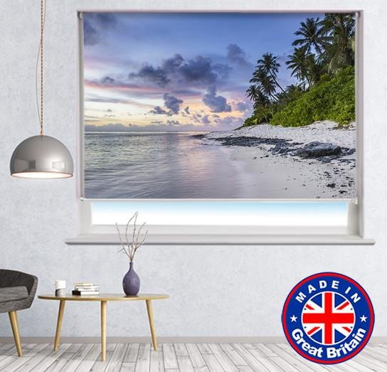 Sunset on Paradise Island Printed Picture Photo Roller Blind - RB571 - Art Fever - Art Fever