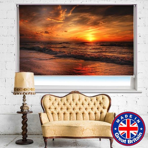Sunset over the North Sea Printed Picture Photo Roller Blind - RB572 - Art Fever - Art Fever