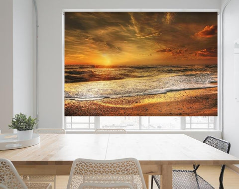 Sunset over the Ocean Printed Picture Photo Roller Blind - RB573 - Art Fever - Art Fever
