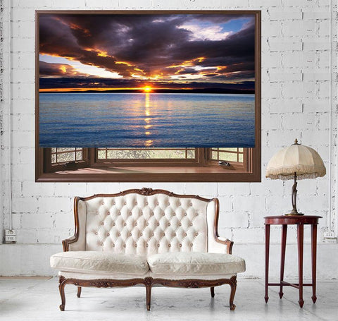 Sunset Sea View Printed Picture Photo Roller Blind - RB513 - Art Fever - Art Fever