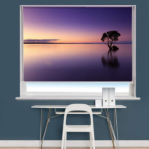 Sunset Tree Water Scene Image Printed Roller Blind - RB822 - Art Fever - Art Fever