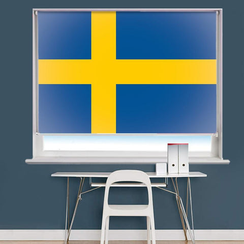 Sweden Flag Printed Picture Roller Blind - RB757 - Art Fever - Art Fever