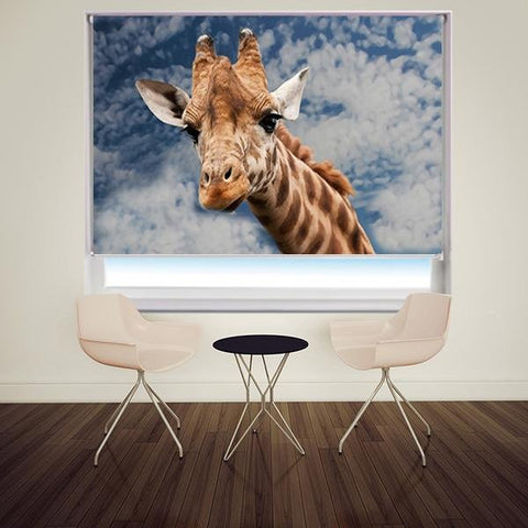 The Giraffe Head Printed Picture Photo Roller Blind - RB622 - Art Fever - Art Fever