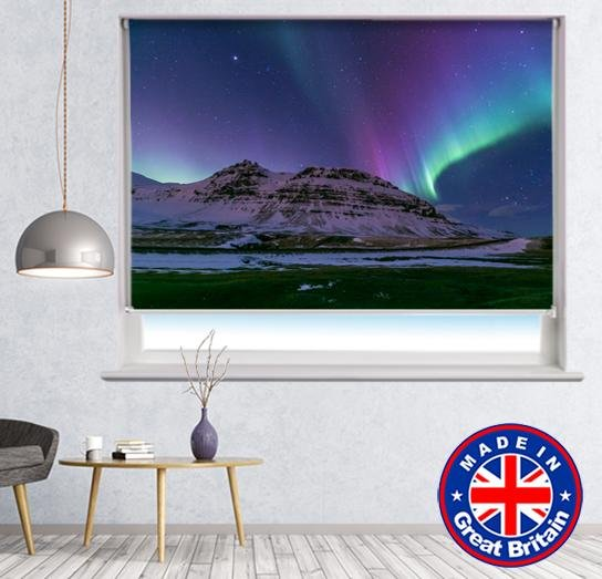 Northern Lights Space Night  PANORAMIC CANVAS WALL ART Box Frame