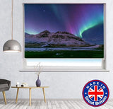 The Heart Northern Light Aurora Borealis At Kirkjufell Iceland Printed Picture Photo Roller Blind - RB672 - Art Fever - Art Fever