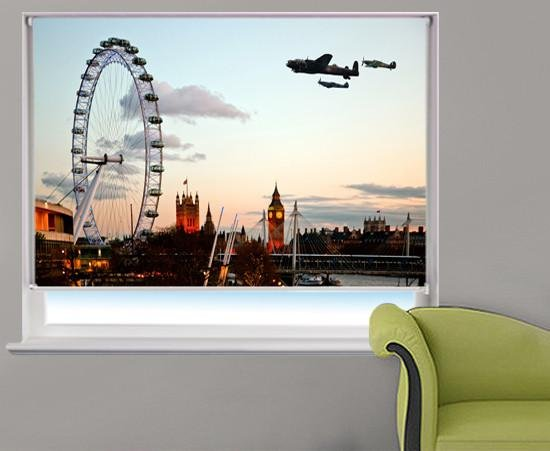 The London flypast Printed Picture Photo Roller Blind - RB231 - Art Fever - Art Fever