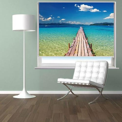 The Pier to Paradise Printed Picture Photo Roller Blind - RB284 - Art Fever - Art Fever