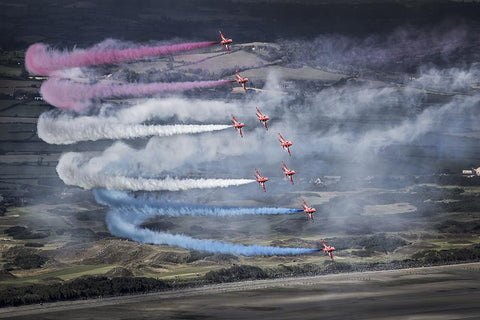 The Red Arrows RAF Air Show printed Photo Wall Mural - Art Fever - Art Fever