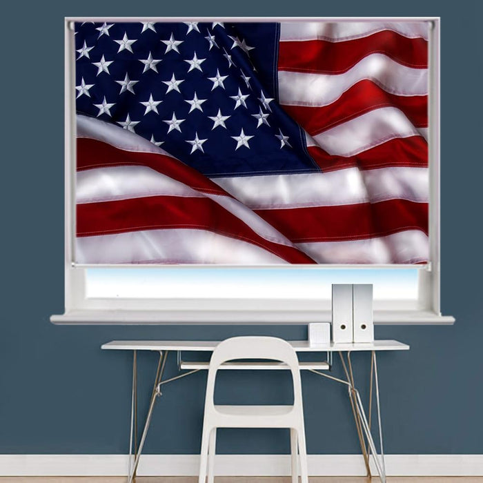 The USA flag Printed Photo Picture Roller Blind - RB721 - Art Fever - Art Fever