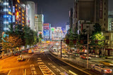 Tokyo Traffic at Night Printed Picture Photo Roller Blind - Art Fever - Art Fever