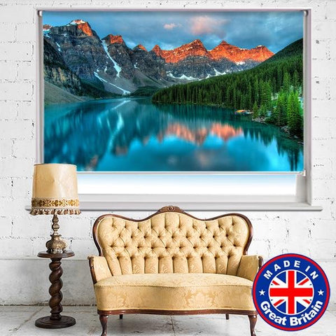 Tranquil Lakeside Printed Photo Roller Blind - Art Fever - Art Fever
