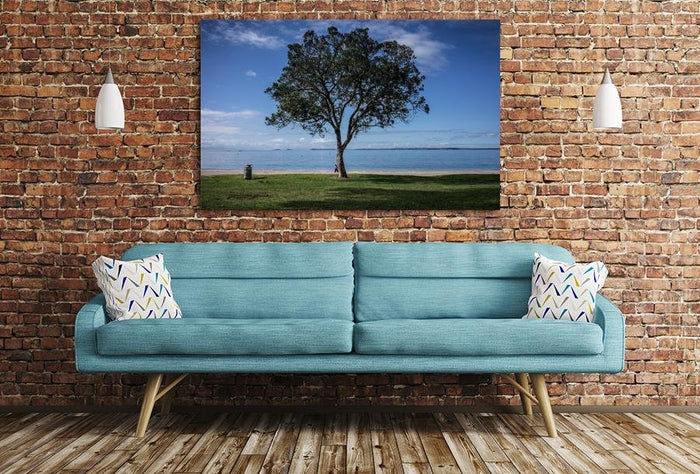 Tree & Beach Scene Image Printed Onto A Single Panel Canvas - SPC11 - Art Fever - Art Fever