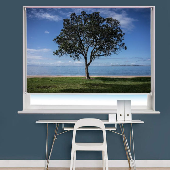 Tree & Beach Scene Printed Photo Picture Roller Blind - RB715 - Art Fever - Art Fever