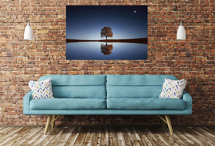 Tree Lake Reflection Image Printed Onto A Single Panel Canvas - SPC68 - Art Fever - Art Fever