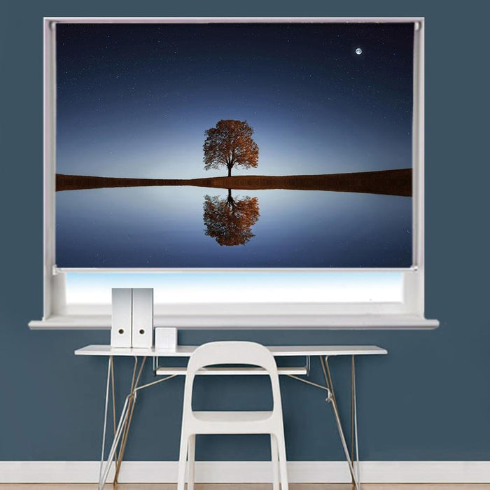 Tree Lake Reflection Printed Picture Photo Roller Blind - RB790 - Art Fever - Art Fever
