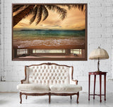 Tropical Beach at Dusk Printed Picture Photo Roller Blind - RB512 - Art Fever - Art Fever