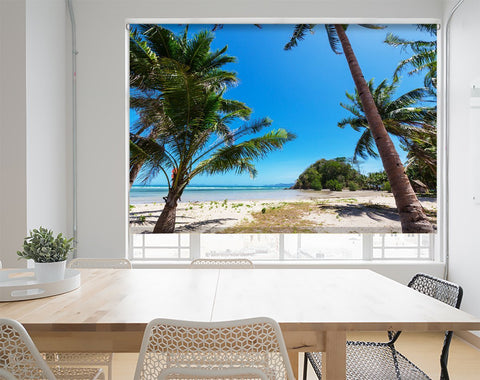 Tropical Beach Coastline Printed Picture Photo Roller Blind - RB566 - Art Fever - Art Fever