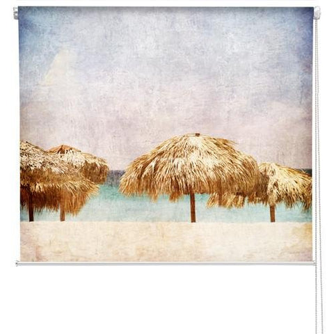 Tropical beach picture Grunge Effect Printed Picture Photo Roller Blind - RB178 - Art Fever - Art Fever