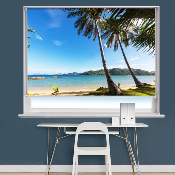 tropical beach Scene Image Printed Roller Blind - RB829 - Art Fever - Art Fever