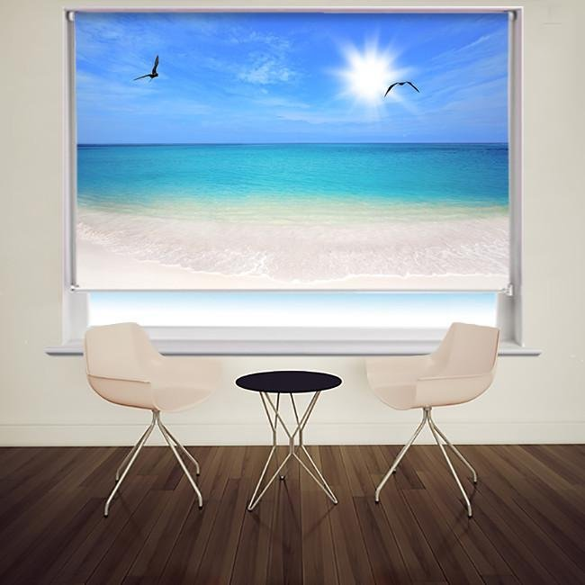 Tropical Boca Grandi Beach Printed Photo Picture Roller Blind - RB503 - Art Fever - Art Fever
