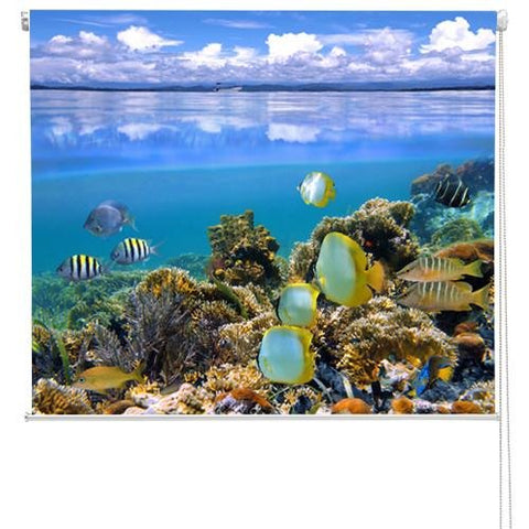 Tropical Coral Bay Printed Picture Photo Roller Blind - RB105 - Art Fever - Art Fever