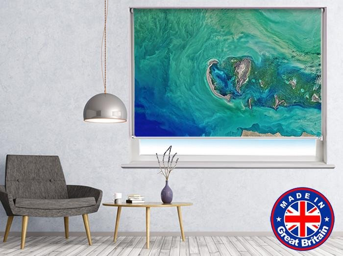 Tropical Earth from Space Printed Picture Photo Roller Blind - RB554 - Art Fever - Art Fever